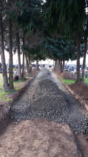 Izgradnja staza na groblju u Gorjanima